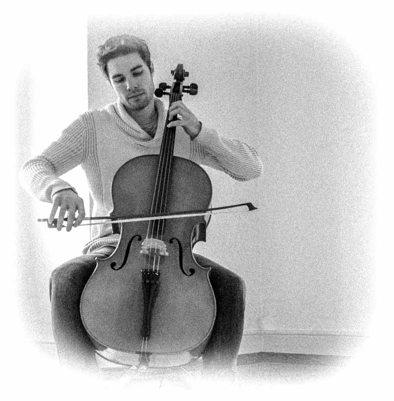 Picture of Jonathan playing the cello.